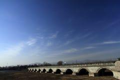 古老桥梁瓷 免版税图库摄影