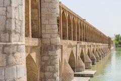古老桥梁Sio Seh波尔布特 免版税库存图片