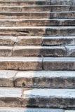 古老梯子石头 库存图片