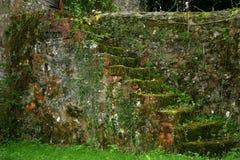 古老楼梯 免版税库存图片