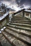 古老楼梯 免版税库存照片