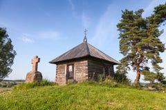 古老正统教堂和石头在Savkina gorka横渡 库存图片