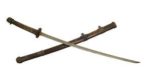 古老武士剑孤立 免版税库存照片