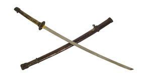 古老武士剑孤立 库存照片