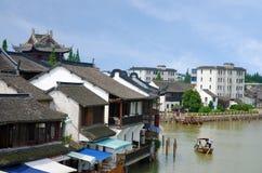 古老水镇朱家角,中国 免版税库存图片