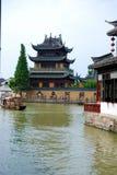 古老水镇朱家角,中国 库存照片