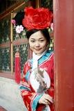 古老汉语打扮女孩 库存照片