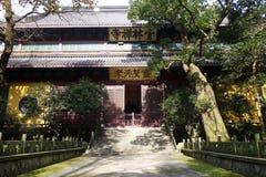 古老汉语灵隐寺传统建筑学  免版税库存图片