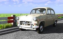 古老汽车俄语 库存图片