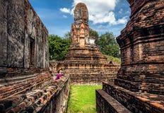古老泰国的废墟 库存图片