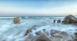古老海洋礁石Co撒奇, Binh Thuan,越南 免版税库存图片