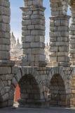 古老渡槽,塞戈维亚 库存图片