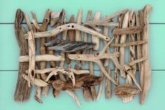 古老漂流木头 图库摄影