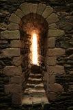 古老漏洞, Chalucet城堡,法国 免版税图库摄影