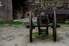 古老火器,至今被保存 在Bolkow波兰城堡的陈列  库存图片