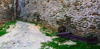 古老火器,至今被保存 在Bolkow波兰城堡的陈列  免版税图库摄影