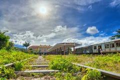古老火车站是著名地方 免版税库存照片