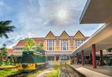 古老火车站是著名地方 免版税库存图片