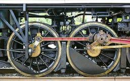 古老火车轮子 免版税库存照片