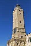 古老灯塔在里米尼,意大利 免版税库存照片