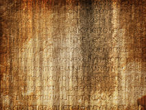 古老热衷的墓石 免版税库存图片
