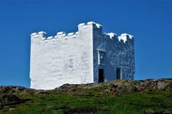 古老烽火台-五月岛,苏格兰 免版税图库摄影