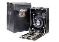 古老照相机和案例一 图库摄影