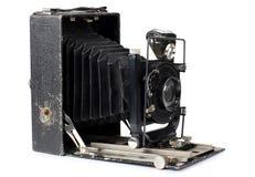 古老照相机和案例五 免版税库存照片