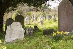 古老爱尔兰凯尔特坟园 免版税图库摄影