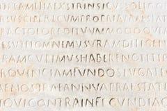 古老特写镜头拉丁文本 免版税库存照片