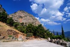 古老特尔斐希腊站点 免版税库存照片