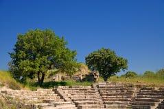 古老特洛伊废墟 库存照片