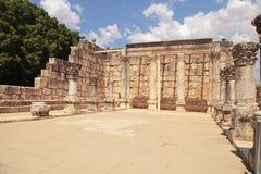 古老犹太教堂废墟在Capernaum,以色列 库存照片