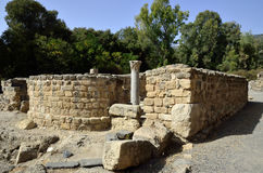 古老犹太教堂废墟,以色列 免版税库存图片