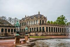 古老王宫在德累斯顿,德国 古老欧洲建筑学 免版税图库摄影