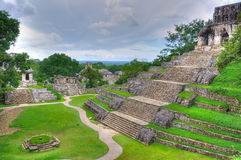 古老玛雅人墨西哥palenque寺庙 免版税库存图片