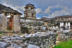 古老玛雅人墨西哥palenque废墟 库存照片