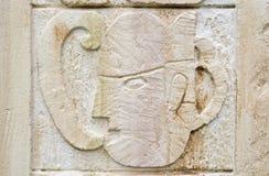 古老玛雅人替补石头 库存图片