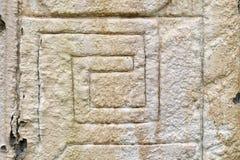 古老玛雅人替补石头 免版税库存照片