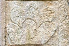 古老玛雅人替补石头 免版税库存图片