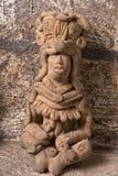 古老玛雅人雕象在危地马拉 免版税图库摄影