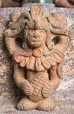 古老玛雅人雕象特写镜头 库存图片