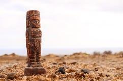古老玛雅人雕象 库存图片