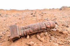古老玛雅人雕象 免版税库存照片