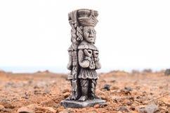 古老玛雅人雕象 图库摄影