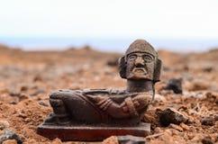 古老玛雅人雕象 免版税库存图片