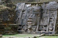 古老玛雅城市Lamanai的废墟 图库摄影