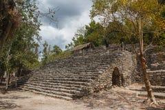 古老玛雅市的废墟科巴 库存照片