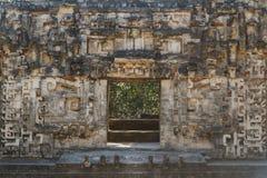 古老玛雅市的废墟Chicanna 库存照片