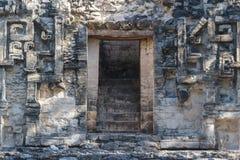 古老玛雅市的废墟Chicanna 免版税库存图片